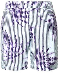 La Perla - Striped Palm Tree Swim Shorts - Lyst