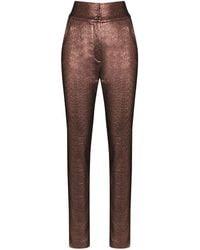Dolce & Gabbana Брюки Из Ткани Ламе С Завышенной Талией - Металлик