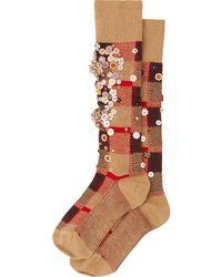 Miu Miu スパンコール 靴下 - マルチカラー