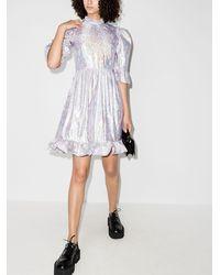 BATSHEVA Платье Мини Prairie С Эффектом Металлик - Пурпурный