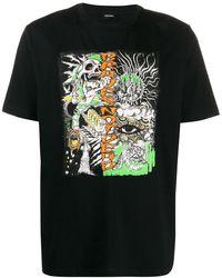DIESEL グラフィック Tシャツ - ブラック