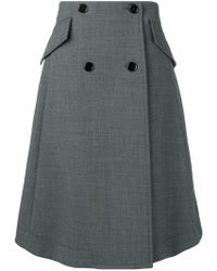 MM6 by Maison Martin Margiela - Buttoned A-line Skirt - Lyst