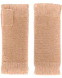 N.Peal Cashmere Vingerloze Handschoenen - Naturel