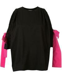 MSGM オープンショルダー ドレス - ブラック