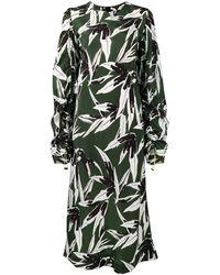 Marni Vestido con estampado de hojas - Verde