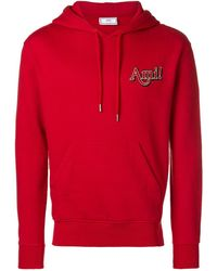 AMI Hoodie With Ami Embroidery - Red