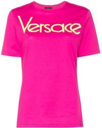 Versace ロゴ Tシャツ - ピンク