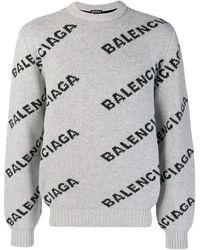 Balenciaga - オールオーバーロゴ セーター - Lyst