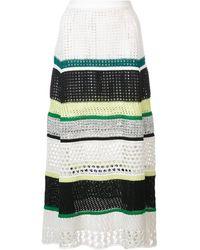 Proenza Schouler Striped Knit Skirt - ブラック