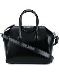 Givenchy Borsa Antigona mini in pelle fiore nera - Nero