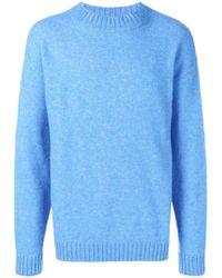 Laneus Crew Knitted Jumper - Blue