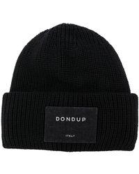 Dondup リブニット ビーニー - ブラック