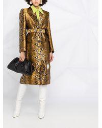 Versace Пальто Со Змеиным Принтом - Металлик