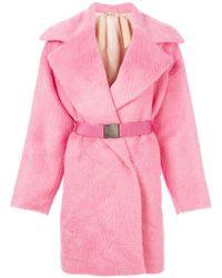 N°21 - Belted Fur Coat - Lyst