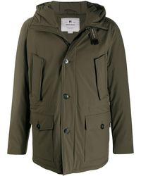 Woolrich Multi-pocket Hooded Parka Coat - Green