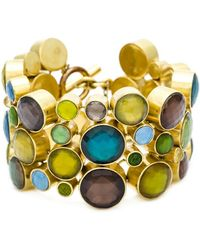 Vaubel - 14kt Gold Multi Stone Circle Cuff - Lyst