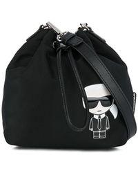 Karl Lagerfeld K/ikonik Nylon Bucket - Black