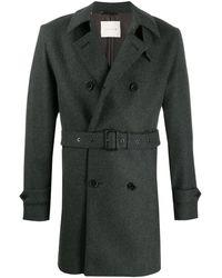 Mackintosh ウール ショート トレンチコート Fetlar Gm-1014f - グレー