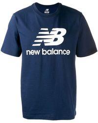 New Balance ロゴ Tシャツ - ブルー