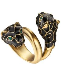 Gucci Tiger Head Ring - Black