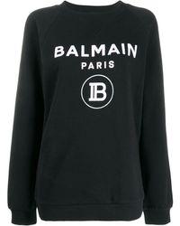 Balmain ロゴ プルオーバー - ブラック