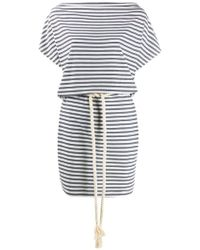 EA7 - Striped Short Dress - Lyst