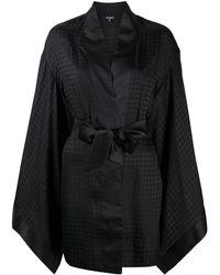 Balmain Кимоно С Геометричным Узором - Черный