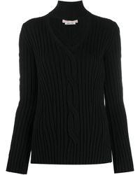 Alexander McQueen ハイネック リブセーター - ブラック