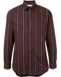 Cerruti 1881 Long Sleeve Striped Print Shirt - Brown