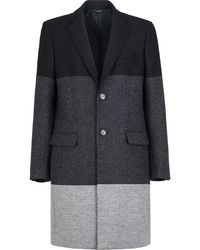 Fendi Однобортное Пальто В Стиле Колор-блок - Серый