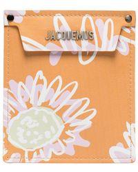 Jacquemus Bolso de mano Porte con motivo floral - Naranja