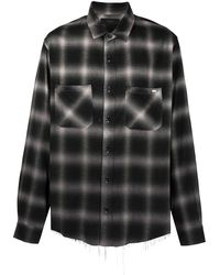 Amiri グラデーションチェック シャツ - ブラック