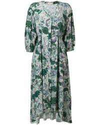 Dagmar - Floral Flared Midi Dress - Lyst