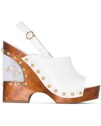 Sophia Webster Paradise Wedge Sandals - White