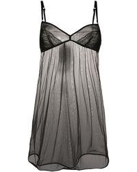 Dolce & Gabbana Sheer Nightgown - Black