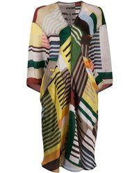 Rick Owens Striped Tunic Dress - Multicolour