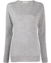 John Smedley Long-sleeve Fitted Sweater - Gray