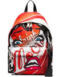 Moschino - Multicoloured Face Print Backpack - Lyst