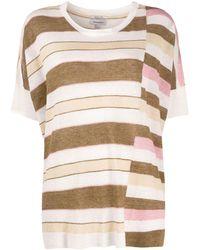 Woolrich ストライプ Tシャツ - ホワイト
