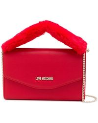 Love Moschino - Faux Shearling Handle Bag - Lyst