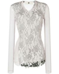 Marc Le Bihan - Floral Lace Layered Sheer Top - Lyst
