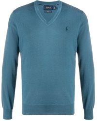 Polo Ralph Lauren Пуловер С Вышитым Логотипом - Синий