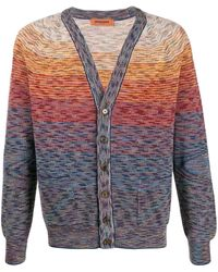 Missoni V-neck Knit Cardigan - Blue