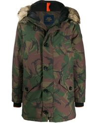 Polo Ralph Lauren Camouflage Print Coat - Green