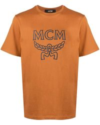 MCM Футболка С Логотипом - Коричневый