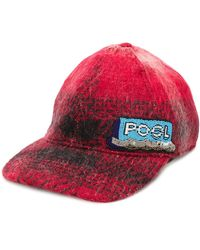 N°21 Beaded Patch Baseball Cap - Red