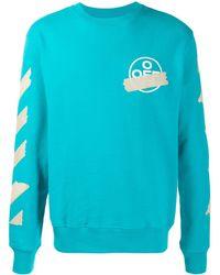 Off-White c/o Virgil Abloh - Logo Sweatshirt Blue - Lyst