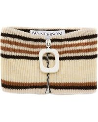 JW Anderson Zipped Striped Neckband - Multicolor