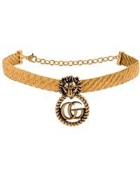Gucci Vergulde Choker - Metallic