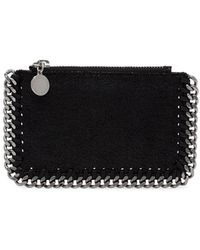 Stella McCartney - Black Chain Detail Zipped Cardholder - Lyst